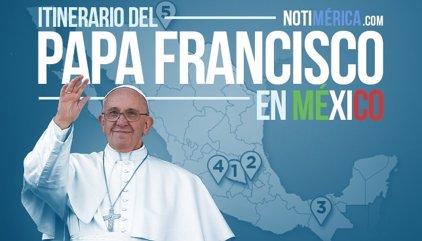 Recorrido del Papa Francisco por México