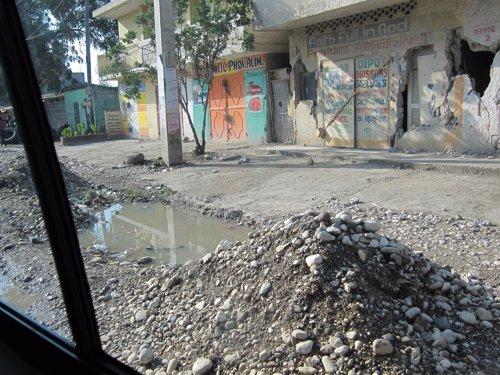 Escombros en la capital de Haití