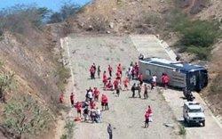 Diversos jugadors d'Huracán, ferits lleus després de bolcar l'autobús de l'equip (TWITTER)