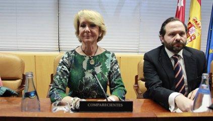 Dimite Esperanza Aguirre como presidenta del PP de Madrid