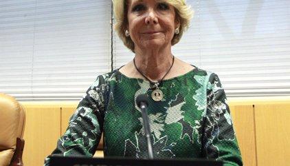 Dimiteix Esperanza Aguirre com a presidenta del PP de Madrid