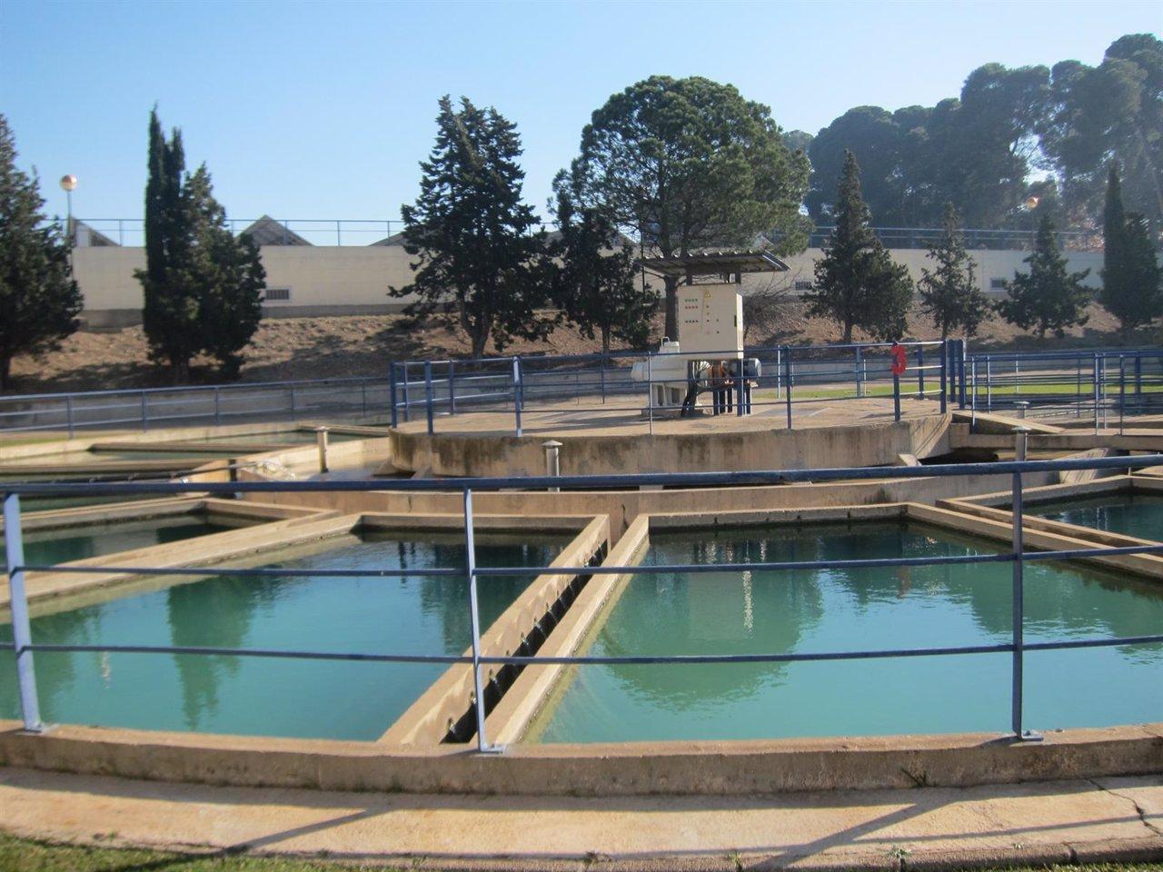 Potabilizadora, depósitos de agua