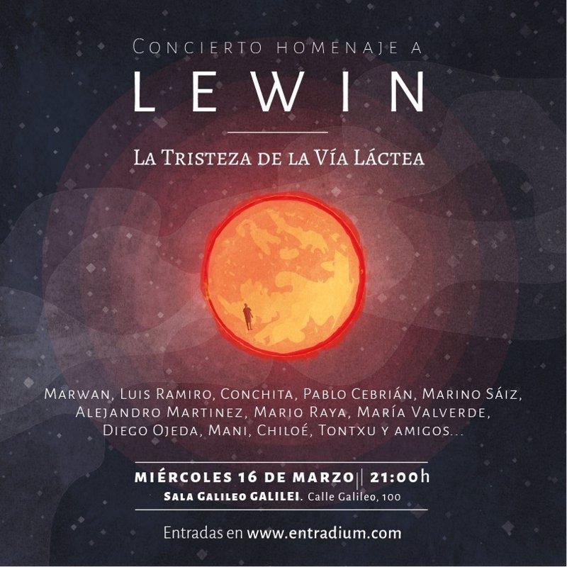 Concierto tributo a lewin en madrid con marwan luis for Sala galileo conciertos