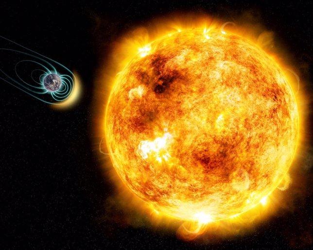 Un campo magnético protector hizo posible la vida en la Tierra