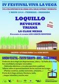 Loquillo, Revolver, Triana y Sonido Vegetal, en el IV Festival Viva la Vega