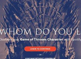 Spotify te ayuda a decidir qué personaje de Juego de Tronos eres