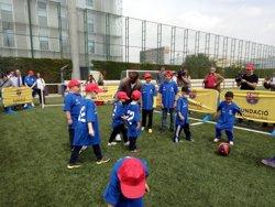 El Barça treballarà amb la fundació d'Éric Abidal per combatre el càncer infantil (EUROPA PRESS)