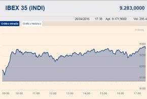 Foto: El Ibex 35 sube un 1,56%, hasta los 9.283 puntos, gracias al impulso de la banca (EUROPA PRESS)