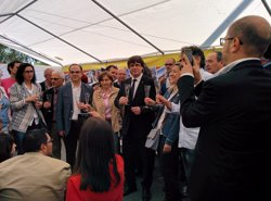 Puigdemont emprèn a Brussel·les el seu primer viatge oficial a l'estranger (EUROPA PRESS)