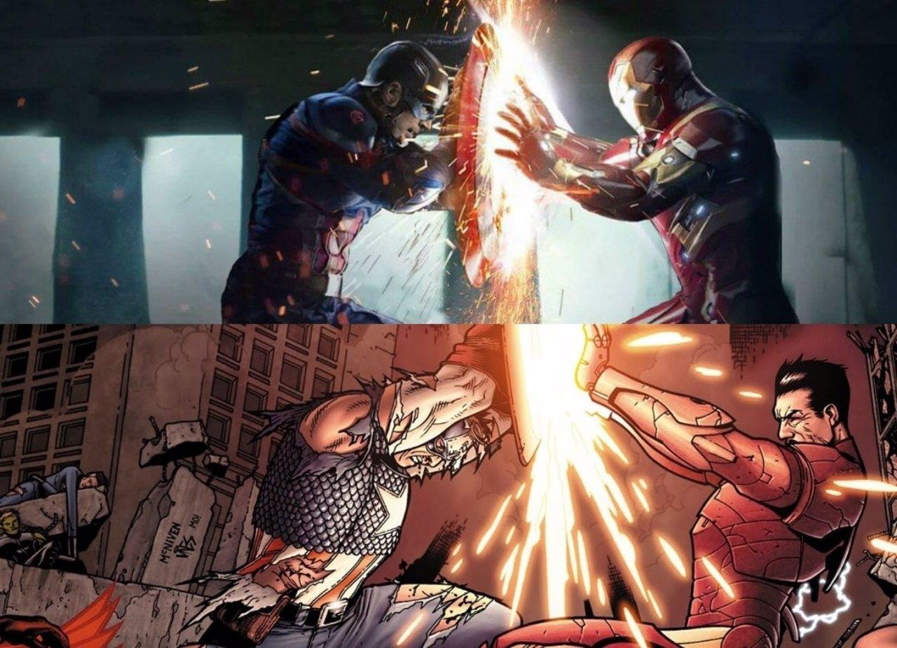Imà Genes De Iron Man: Capitán América Vs Iron Man: Así Es La Civil War En Los