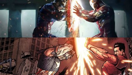 Capitán América vs Iron Man: Así es la Civil War en los cómics