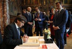 Puigdemont: la reunió sobre pobresa energètica representarà la unió del poble de Catalunya (GOVERN/JORDI BEDMAR)