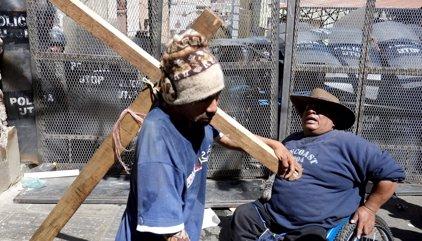 Se endurecen las protestas de los discapacitados en Bolivia
