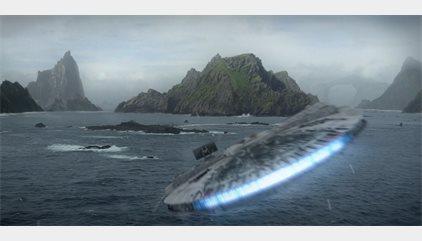 Star Wars 8: El Halcón Milenario aterriza en el primer templo jedi en las nuevas imágenes