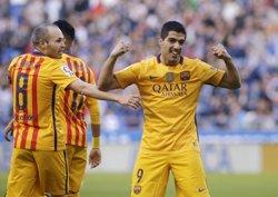 Luis Suárez apunta al Pichichi quan falten dues jornades (REUTERS)