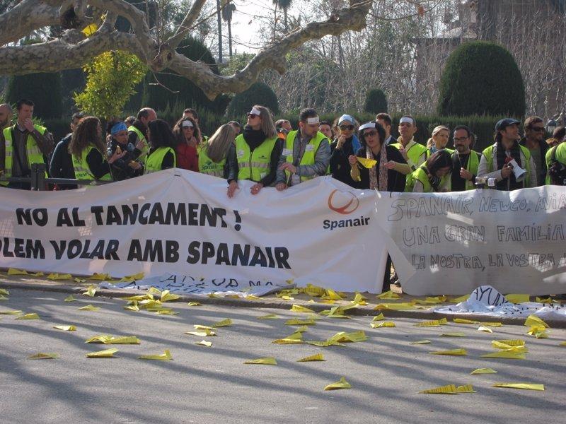 La Audiencia de Barcelona absuelve a la cúpula de Spanair al declarar fortuito el concurso