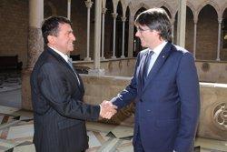 Puigdemont es reuneix a la Generalitat amb l'ambaixador d'Eslovènia (EUROPA PRESS)