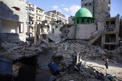 Rebels es fan amb una població prop d'Alep després de combats amb 73 morts (MARKUS PERKINS/AMNISTÍA INTERNACIONAL)
