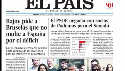 Las portadas de los periódicos de hoy, sábado 7 de mayo de 2016
