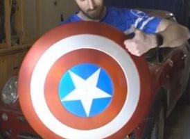 Un fan de Capitán América crea su propio escudo electromagnético