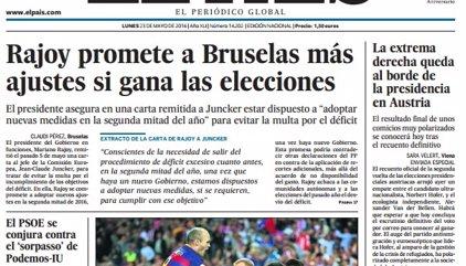 Las portadas de los periódicos de hoy, lunes 23 de mayo de 2016