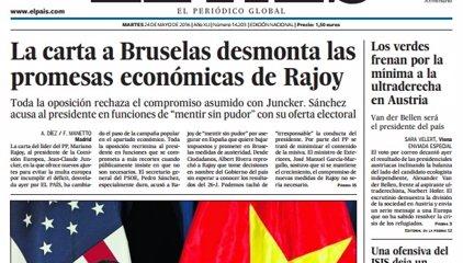 Las portadas de los periódicos de hoy, martes 24 de mayo de 2016