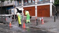 Barcelona xifra en 60.000 euros els danys en patrimoni públic en els aldarulls de Gràcia (EUROPA PRESS)