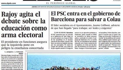 Las portadas de los periódicos de hoy, jueves 26 de mayo de 2016