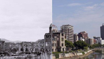 (FOTOS) Bomba de Hiroshima, así quedó la ciudad y así está ahora