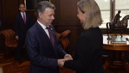 Mogherini anuncia un apoyo económico de 575 millones de euros al posconflicto colombiano