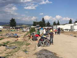 Grècia completa l'evacuació d'Idomeni i iniciarà pròximament la del campament d'Elliniko (AMIR KARIMI/MSF)