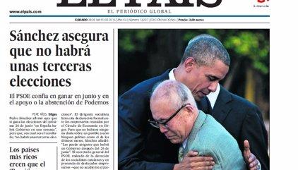 Las portadas de los periódicos de hoy, sábado 28 de mayo de 2016