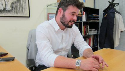 Rufián planteja actes de campanya conjunts ERC-CDC amb Puigdemont i Junqueras