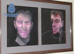 Detenen els presumptes autors del robatori de cinc quadres de Bacon (EUROPA PRESS/POLICIA)