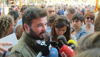 """Rufián (ERC): """"No demanarem permís mai més a l'Estat espanyol"""""""
