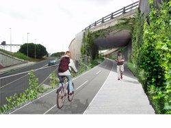 Un camí per a vianants i ciclistes unirà Barcelona i Esplugues per la Diagonal el 2017 (AJUNTAMENT DE BARCELONA)