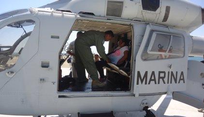 Una mujer da a luz a bordo de un helicóptero de la Armada de México