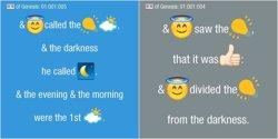 La Bíblia, traduïda a emojis (TWITTER)