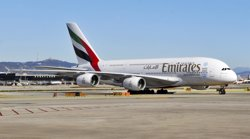 Emirates estrena aquest dimecres el seu segon vol diari a Barcelona amb un A-380 (EMIRATES)