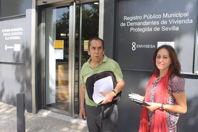 Participa sevilla pide visibilizar por la ciudad la for Oficinas unicaja sevilla
