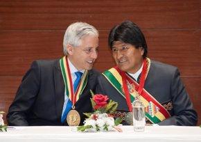 """Foto: García Linera afirma que """"el 50% de la economía chilena depende de recursos bolivianos"""" (FREDDY ZARCO/BOLIVIAN PRESIDENCY)"""