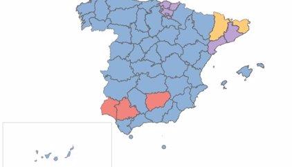 Resultados por provincias y autonomías | Elecciones generales 2016