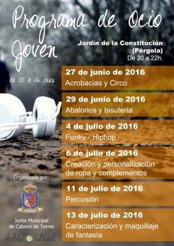 Foto: Talleres de moda, 'hip hop' y percusión para jóvenes en Cabezo de Torres hasta mediados de julio (JUNTA MUNICIPAL)