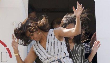 La accidentada llegada de las mujeres 'Obama' a Madrid