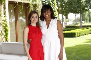 Michelle Obama y la Reina Letizia apuestan por la moda española