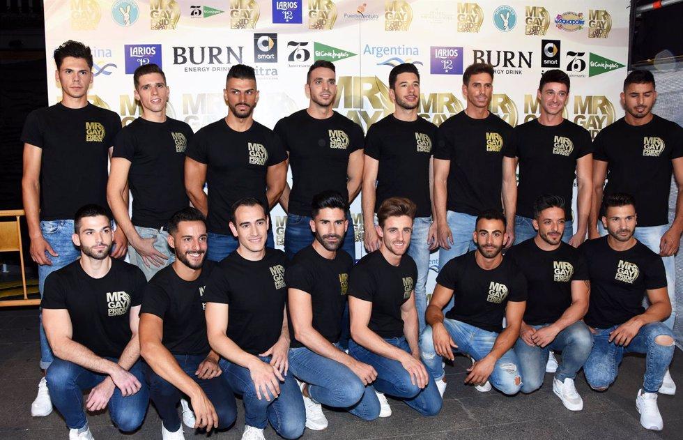 Aspirantes a Mr. Gay Pride España 2016/ Europa Press