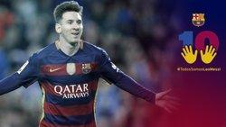 El FC Barcelona posa en marxa una campanya de suport a Messi (FCB)
