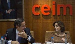 Foto: CEIM traslada a Santamaría su desacuerdo con el aumento de los ingresos del Impuesto de Sociedades (DAVID MUDARRA)