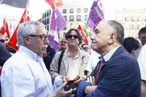 Foto: UGT y CCOO piden a PP, PSOE, Podemos y C's un negociación tripartita sobre nueve materias (EUROPA PRESS)