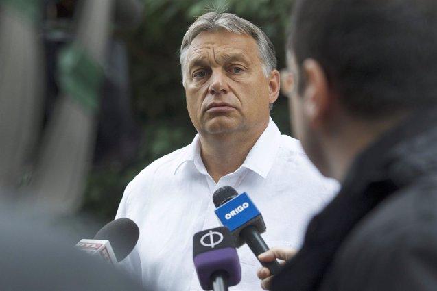 """Foto: El húngaro Orbán destaca los """"valientes"""" proyectos de seguridad de Trump (VARGA GYÖRGY/GOBIERNO DE HUNGRÍA)"""